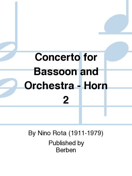 Concerto for Bassoon and Orchestra - Horn 2