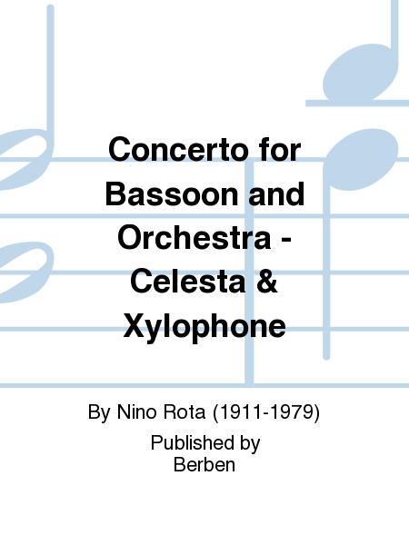 Concerto for Bassoon and Orchestra - Celesta & Xylophone