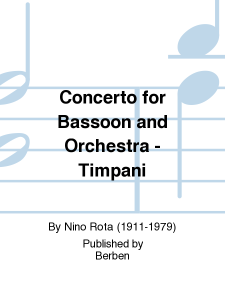 Concerto for Bassoon and Orchestra - Timpani