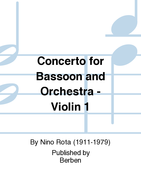 Concerto for Bassoon and Orchestra - Violin 1