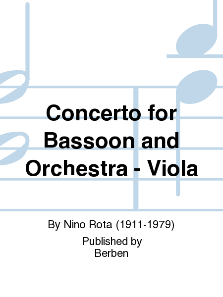 Concerto for Bassoon and Orchestra - Viola