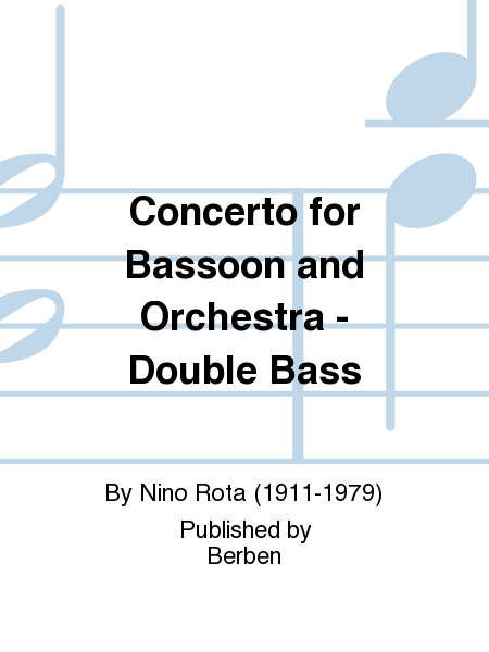 Concerto for Bassoon and Orchestra - Double Bass