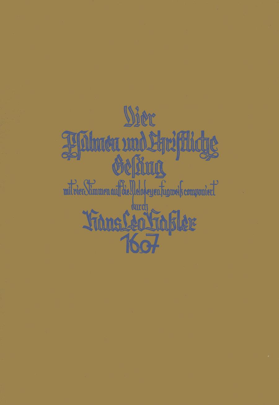 Psalmen und Christliche Gesang fugweis