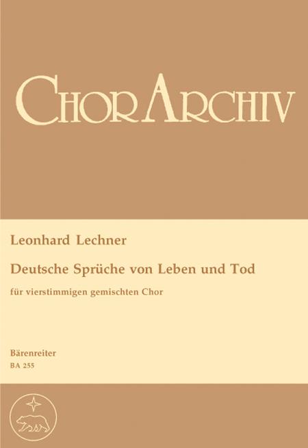 deutsche sprueche von leben und tod sheet music by leonhard lechner sheet music plus. Black Bedroom Furniture Sets. Home Design Ideas