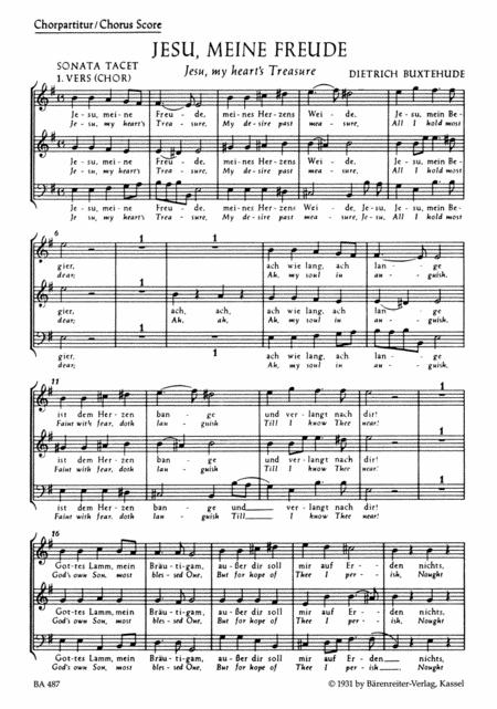 Jesu, my hearts treasure BuxWV 60