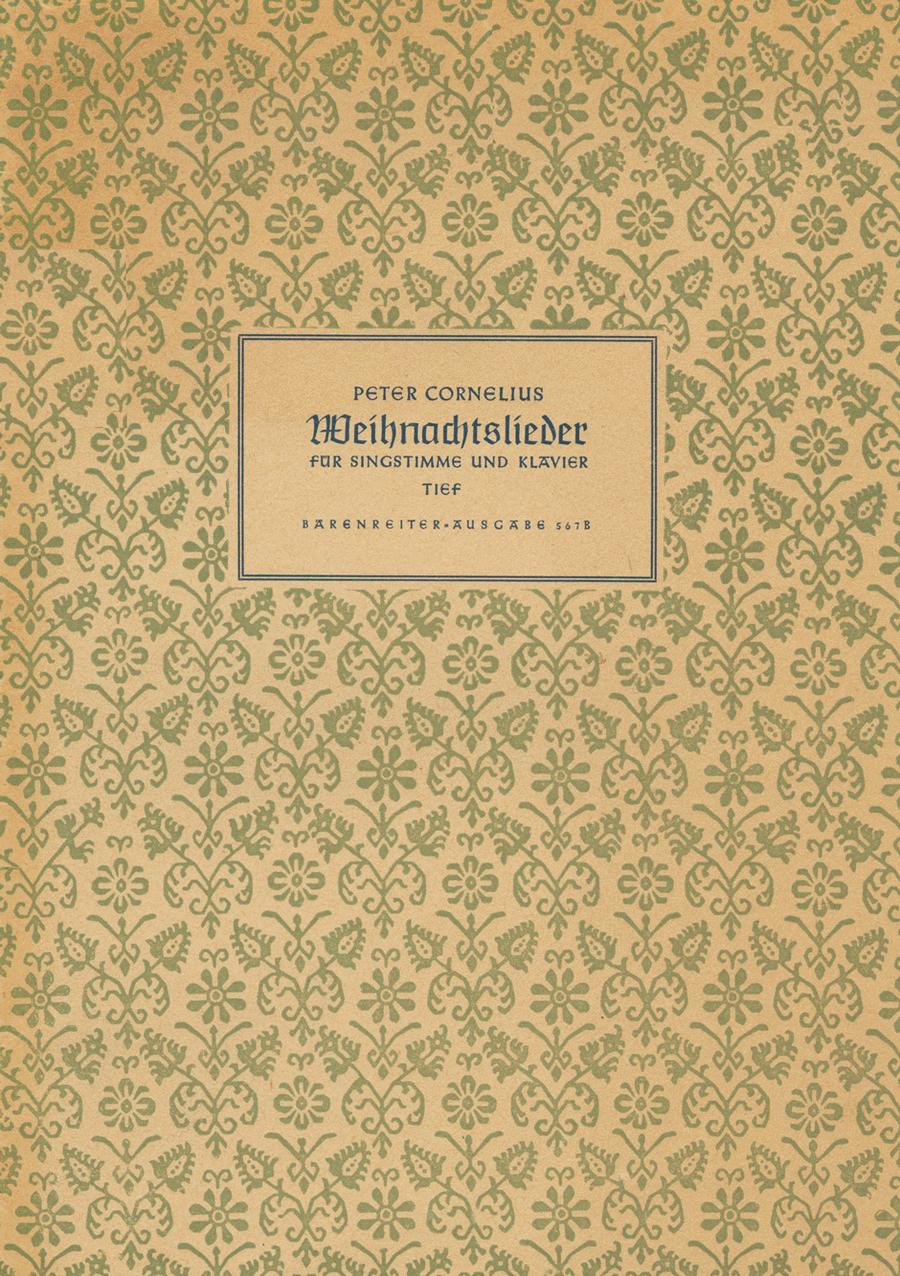 Weihnachtslieder for Voice und Klavier op. 8