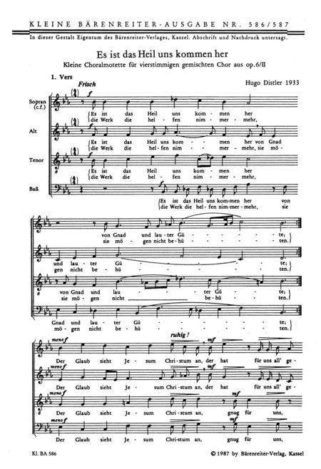 Es ist das Heil uns kommen her, Op. 6/2,II