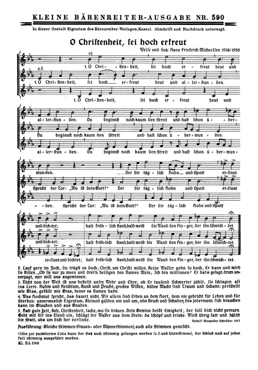 O Christenheit, sei hoch erfreut - O Konig Jesu Christe