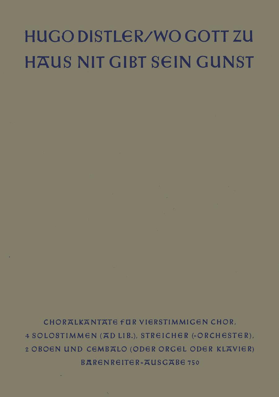 Wo Gott zuhaus nit gibt sein Gunst, Op. 11/1