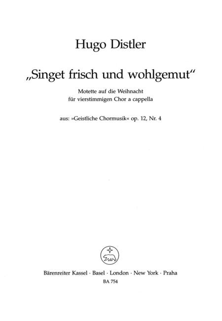 Singet frisch und wohlgemut, Op. 12/4