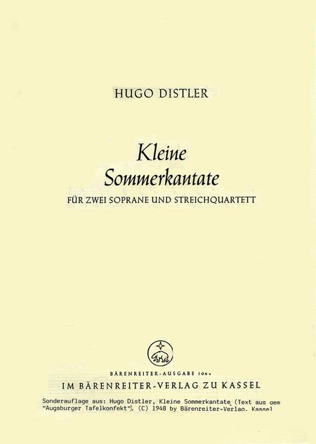 Kleine Sommerkantate, Op. post.