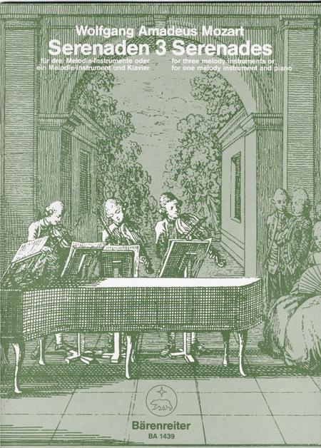 Serenaden fur drei Melodie-Instrumente oder ein Melodie-Instrument und Klavier, Heft 3 C major KV 439b/3