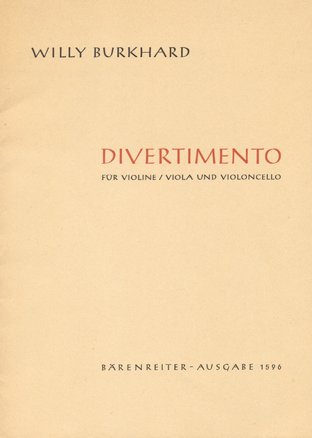 Divertimento for String Trio op. 95