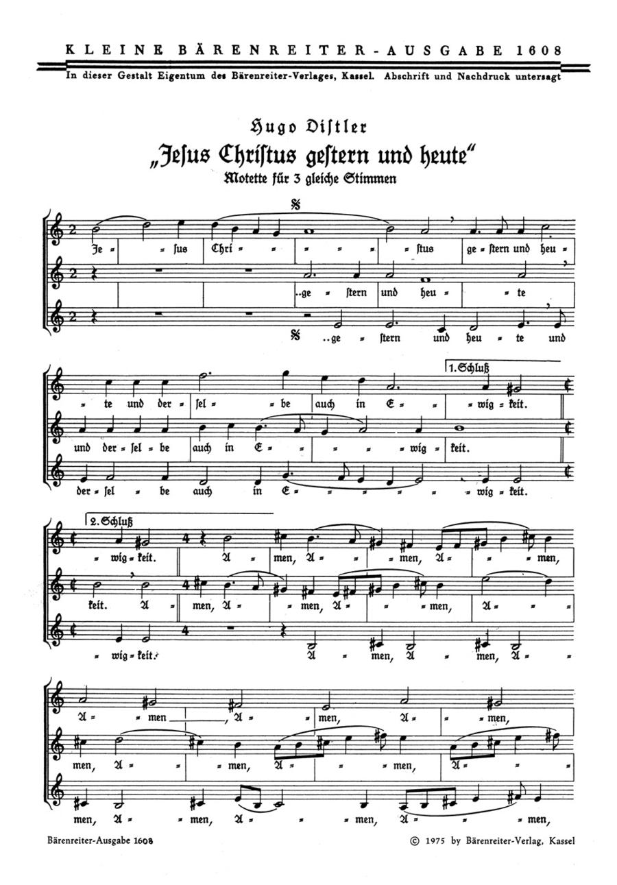Jesus Christus, gestern und heute