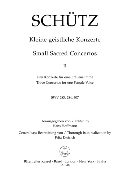 Small Sacred Concertos, Volume 2