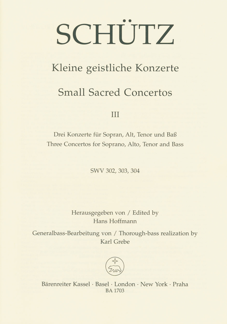 Small Sacred Concertos, Volume 3