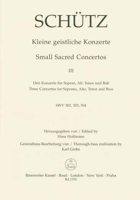 Small Sacred Concertos, Volume 3