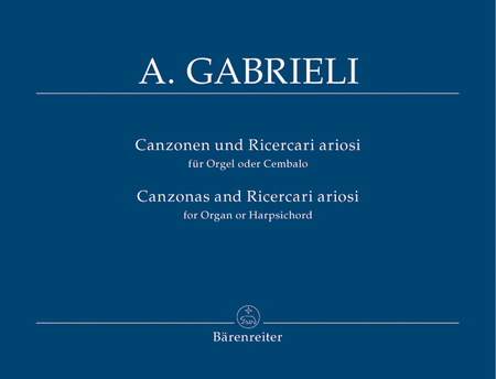 Canzonen und Ricercari ariosi for Organ or Harpsichord