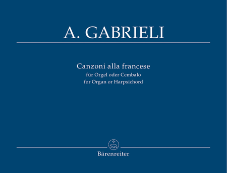 Canzoni alla francese for Organ or Harpsichord