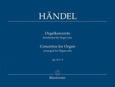 Concertos for Organ I, Op. 4/1-3