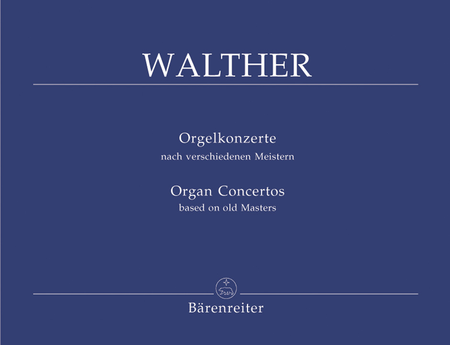 Organ Concertos based on old Masters