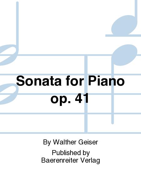 Sonata for Piano op. 41