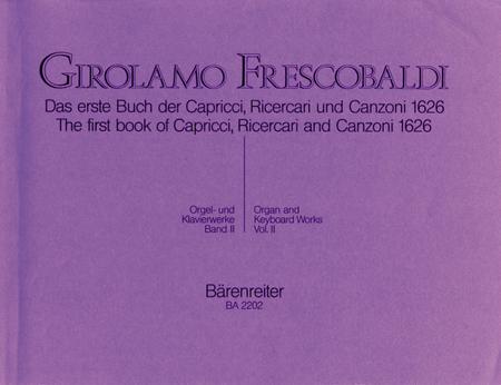 Das erste Buch der Capricci, Ricercari und Canzoni von 1626