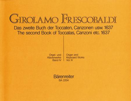 Das zweite Buch der Toccaten, Canzonen usw. 1637