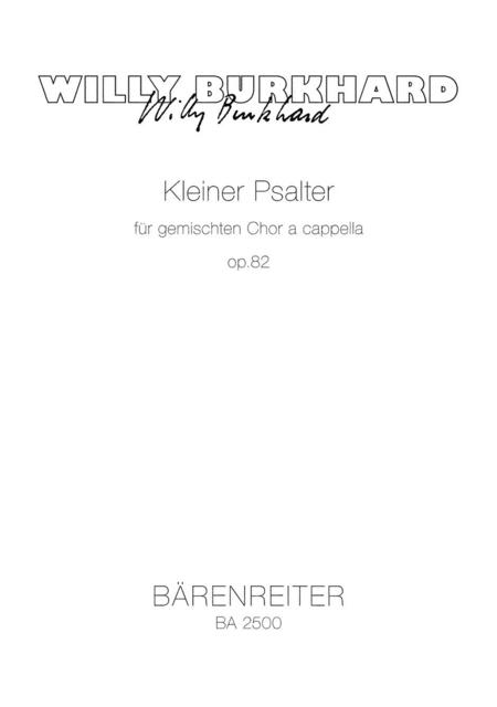 Kleiner Psalter for Mixed Choir a cappella op. 82