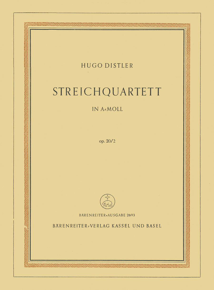 String Quartet a minor op. 20/1