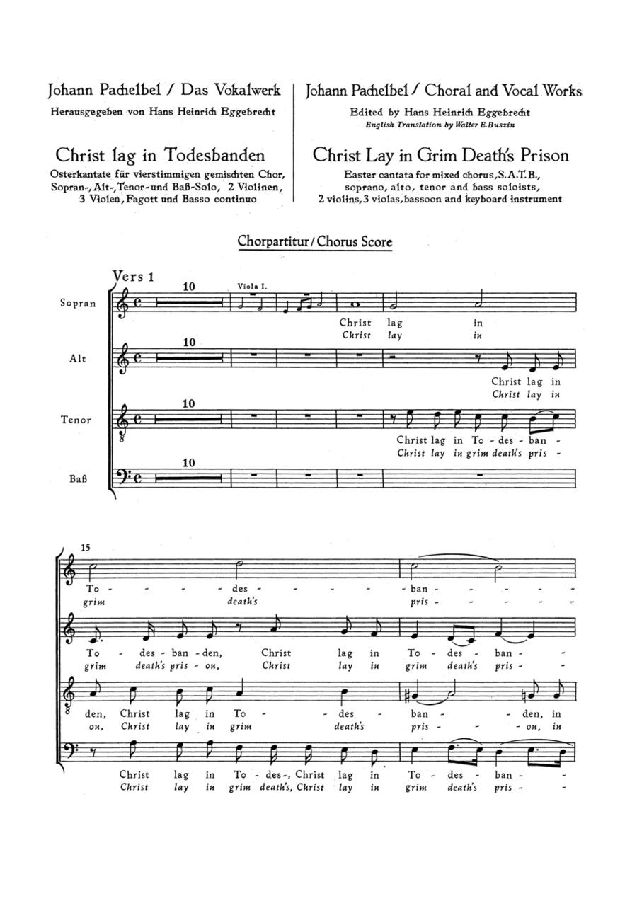 Christ lay in grim deaths prison