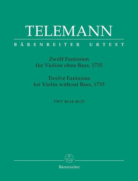 Twelve Fantasias For Violin Without Bass, TWV 40:14-25