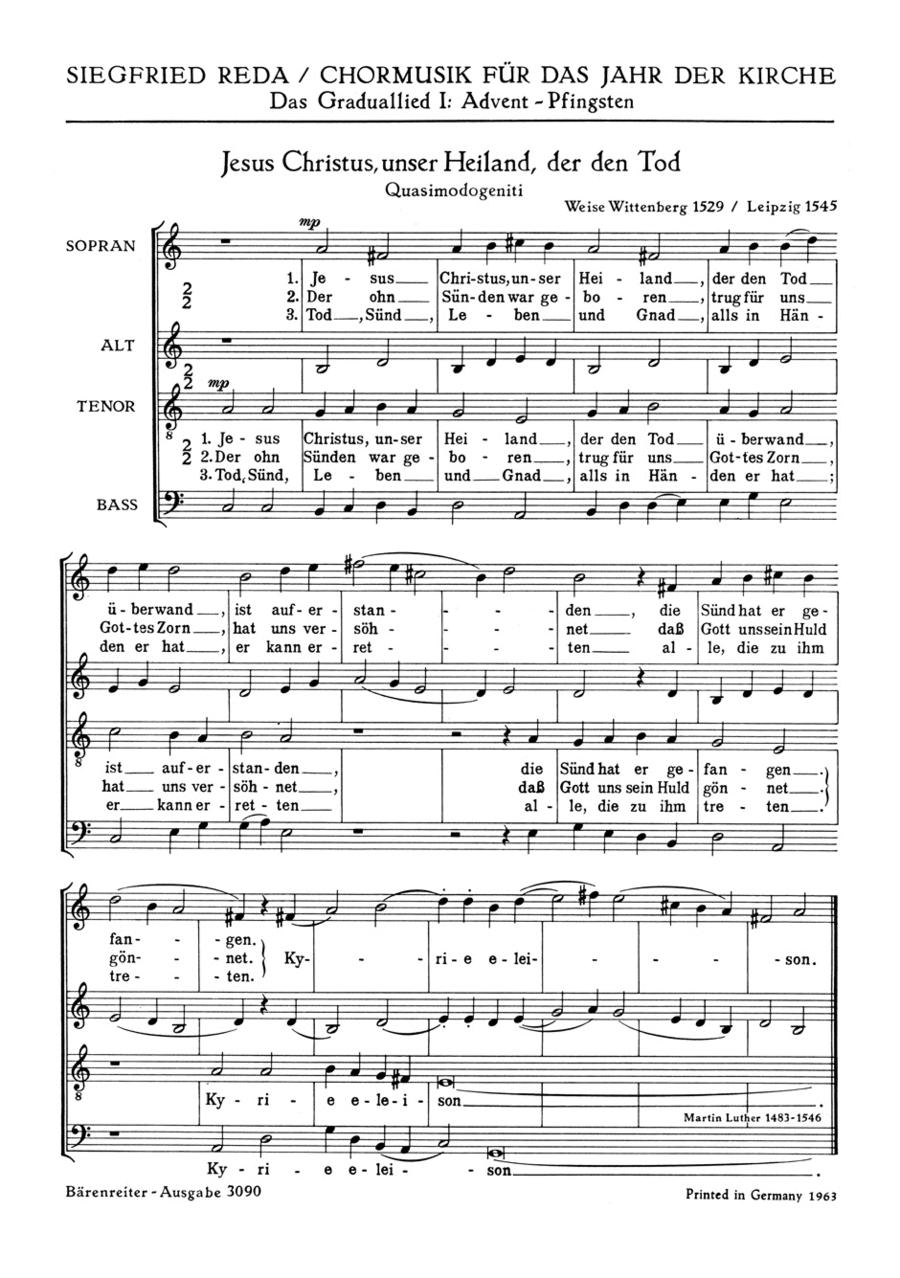 Jesus Christus unser Heiland, der den Tod ueberwand