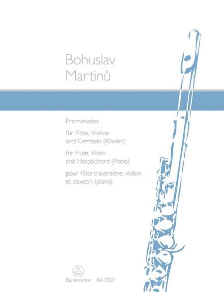 Promenades for Flute, Violin and Harpsichord (Piano)