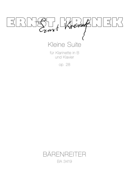 Little Suite for Clarinet and Piano op. 28