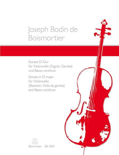 Sonata for Violoncello (Fagott oder Gambe) und Basso continuo D major op. L/3