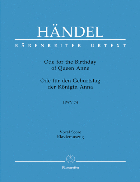 Ode for the Birthday of Queen Anne HWV 74 'Friedensode'