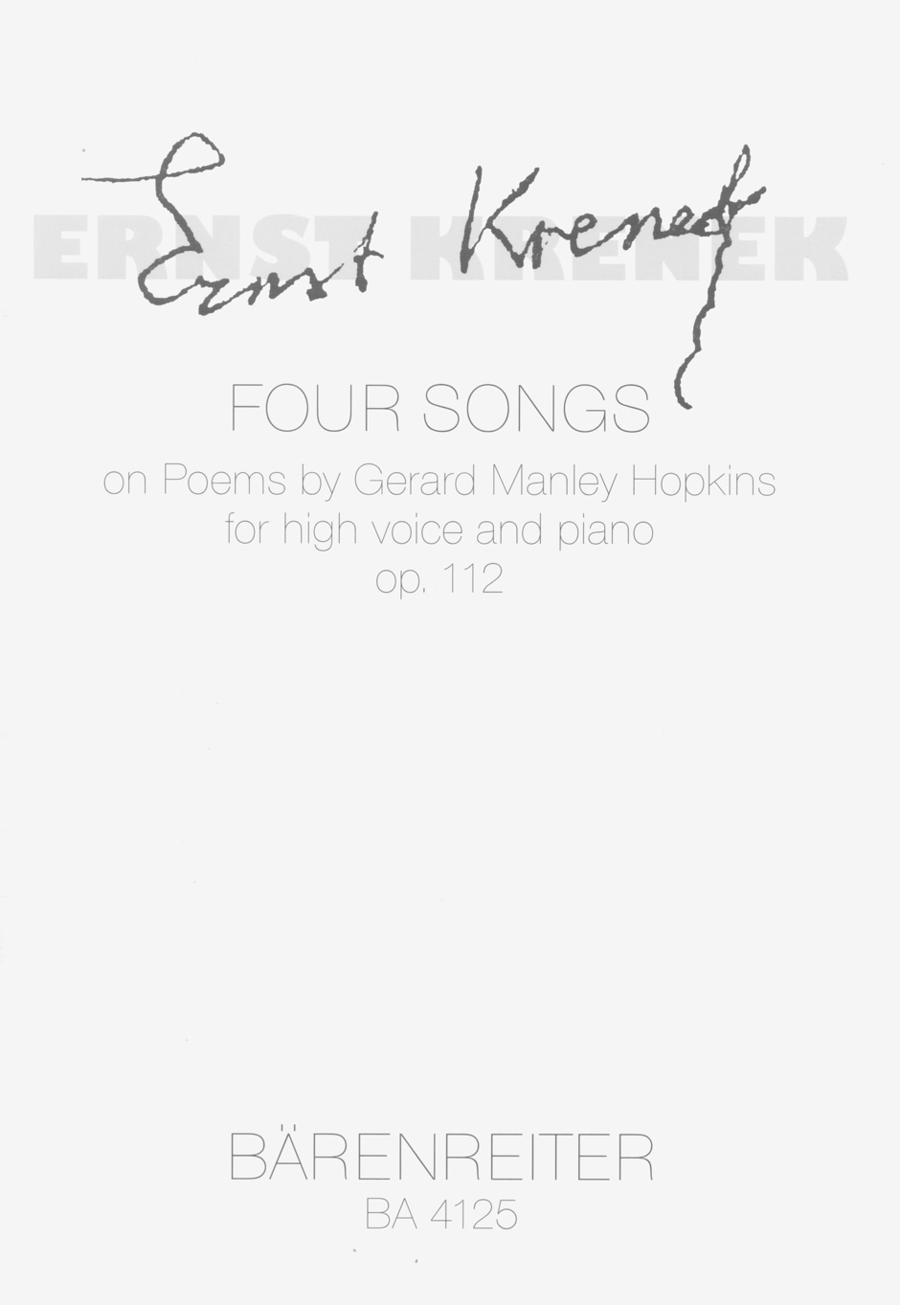 Four Songs nach Gedichten von Gerard Manley Hopkins, Op. 112