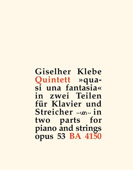 Klavierquintett, Op. 53 'quasi una fantasia'