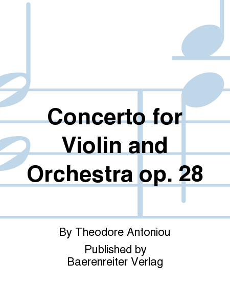 Concerto for Violin and Orchestra op. 28