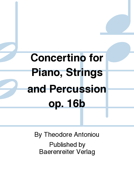 Concertino for Piano, Strings and Percussion op. 16b