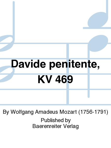 Davide penitente, KV 469