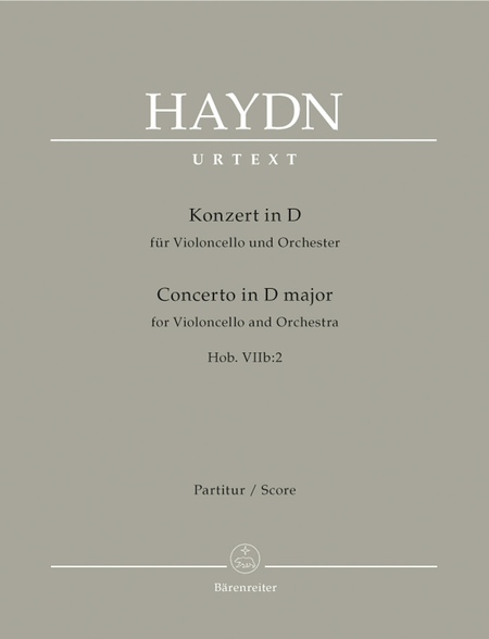Concerto for Violoncello and Orchestra D major Hob. VIIb:2