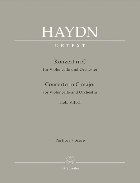 Concerto for Violoncello and Orchestra C major Hob. VIIb:1