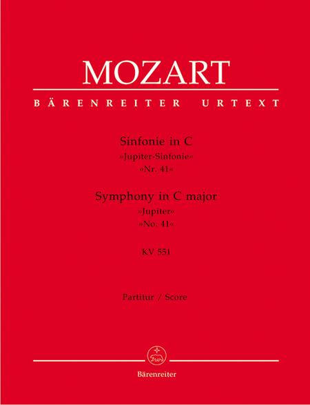 Symphony, No. 41 C major, KV 551 'Jupiter Symphony'