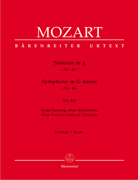 Symphony, No. 40 g minor, KV 550