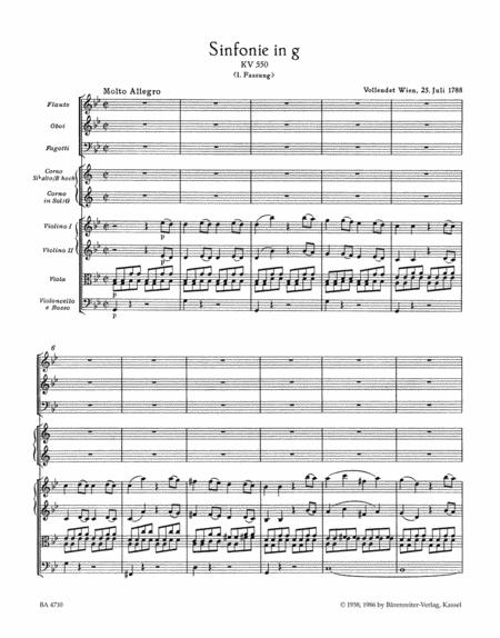 Symphony, No. 40 g minor, KV 550