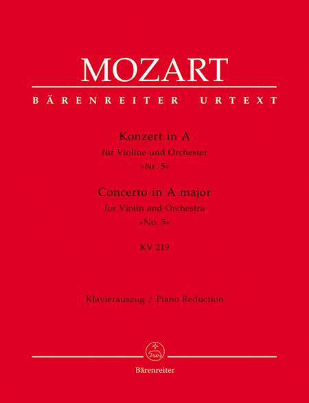 Violin Concerto In A Major, K. 219