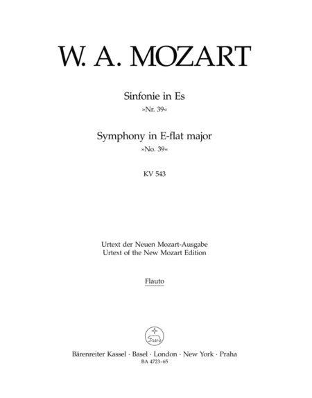 Symphony, No. 39 E flat major, KV 543