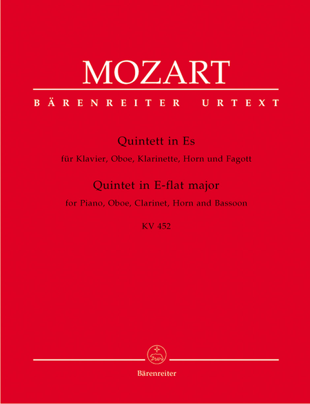 Quintet for Piano, Oboe, Clarinet, Horn and Bassoon E flat major, KV 452